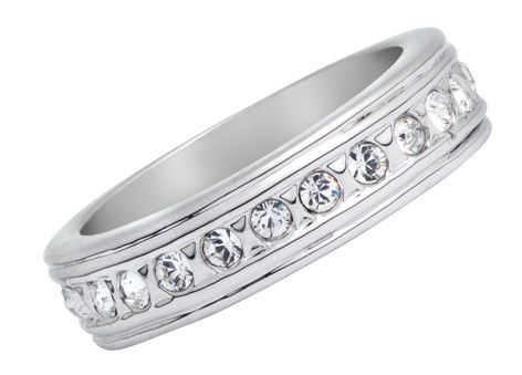 18ct White Gold Plated Ring