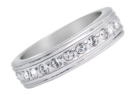 Aurora 18ct White Gold Plated Ring