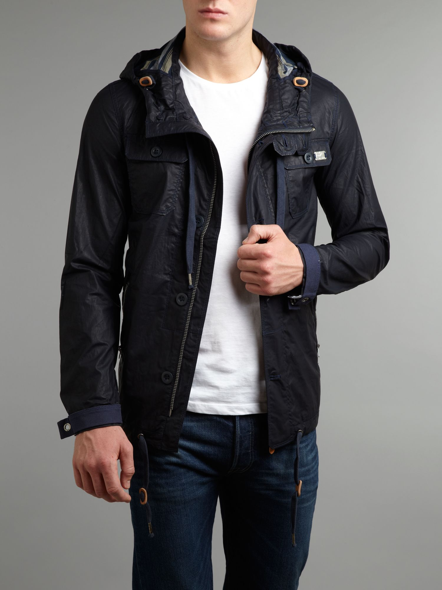 Four pocket coated jacket
