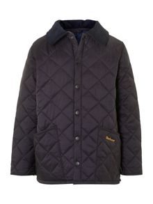 Barbour Shaped Union Jack lined Liddesdale quilted jacket