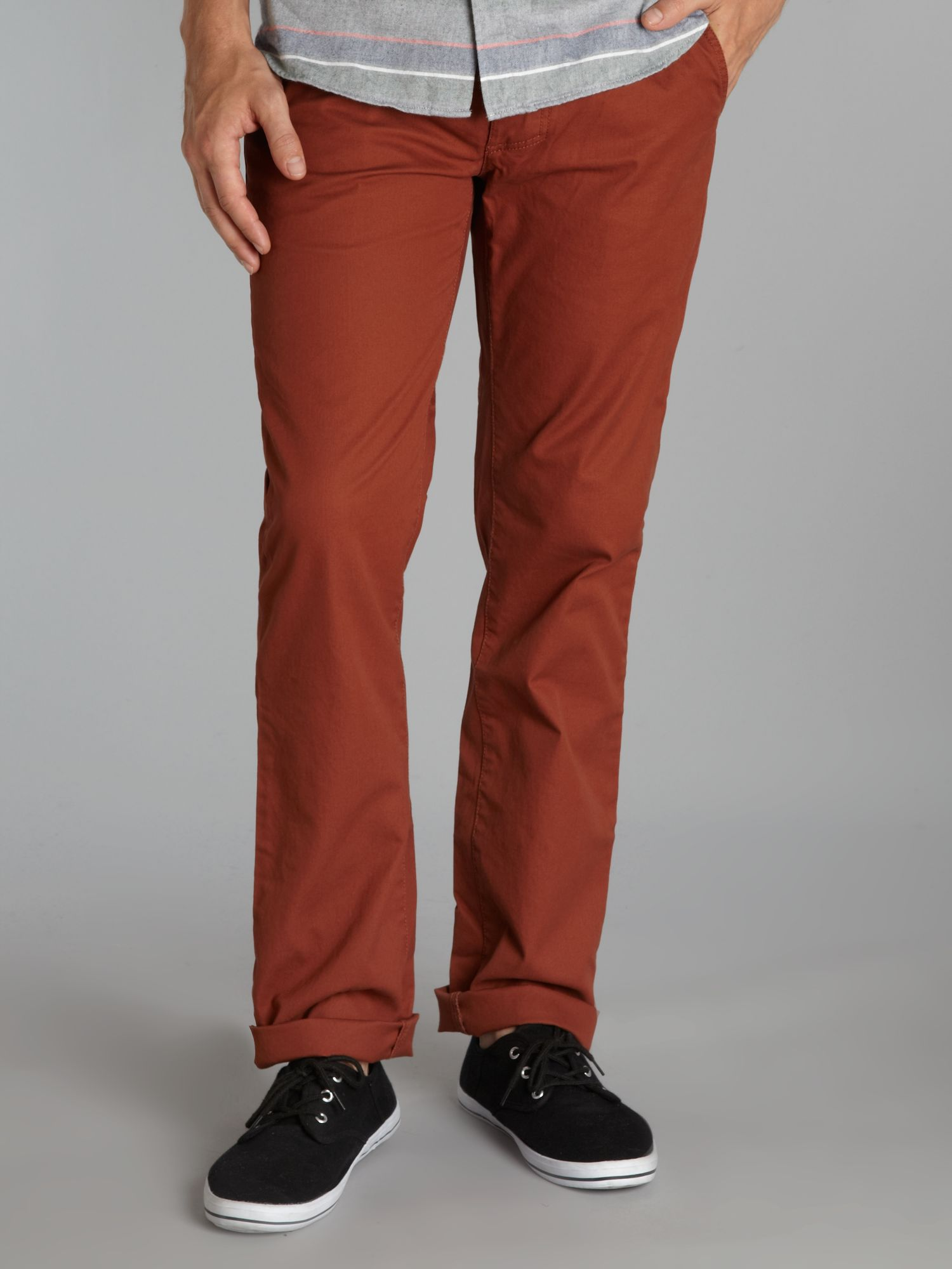 Limited edition washed canvas slim leg chino