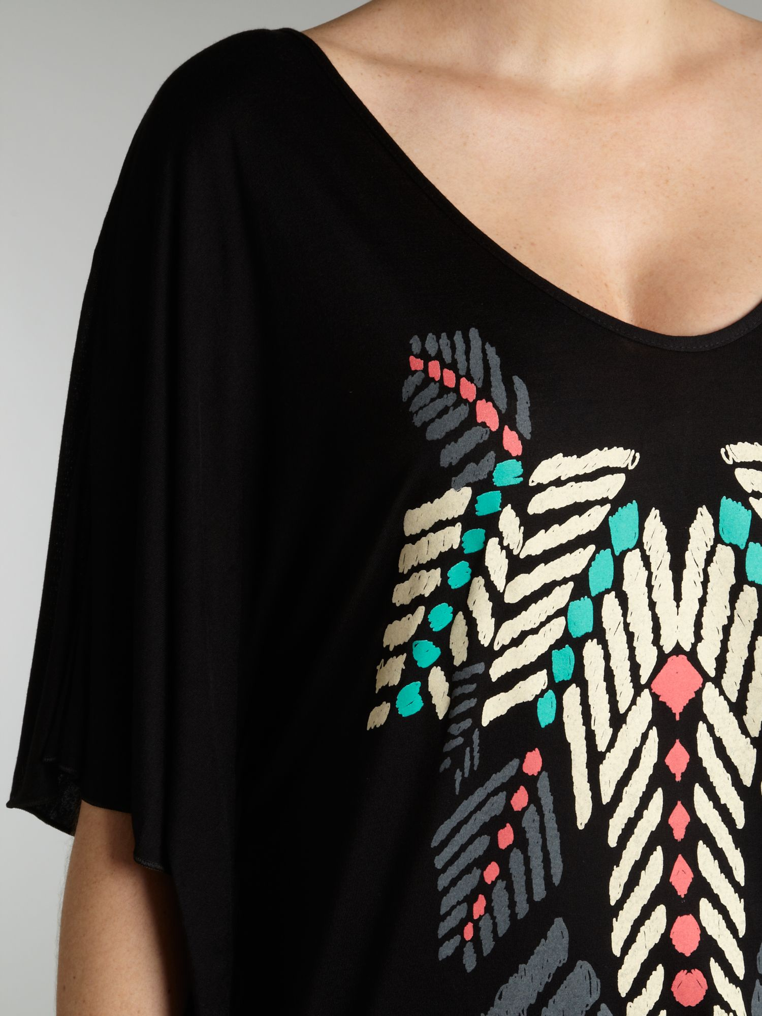 Tribal print top