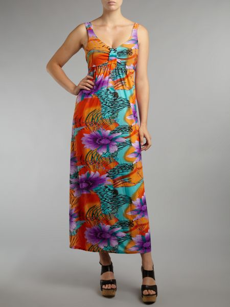 Lovedrobe Slinky floral maxi dress