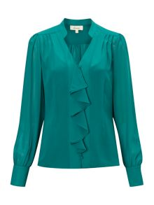 Waterfall frill blouse