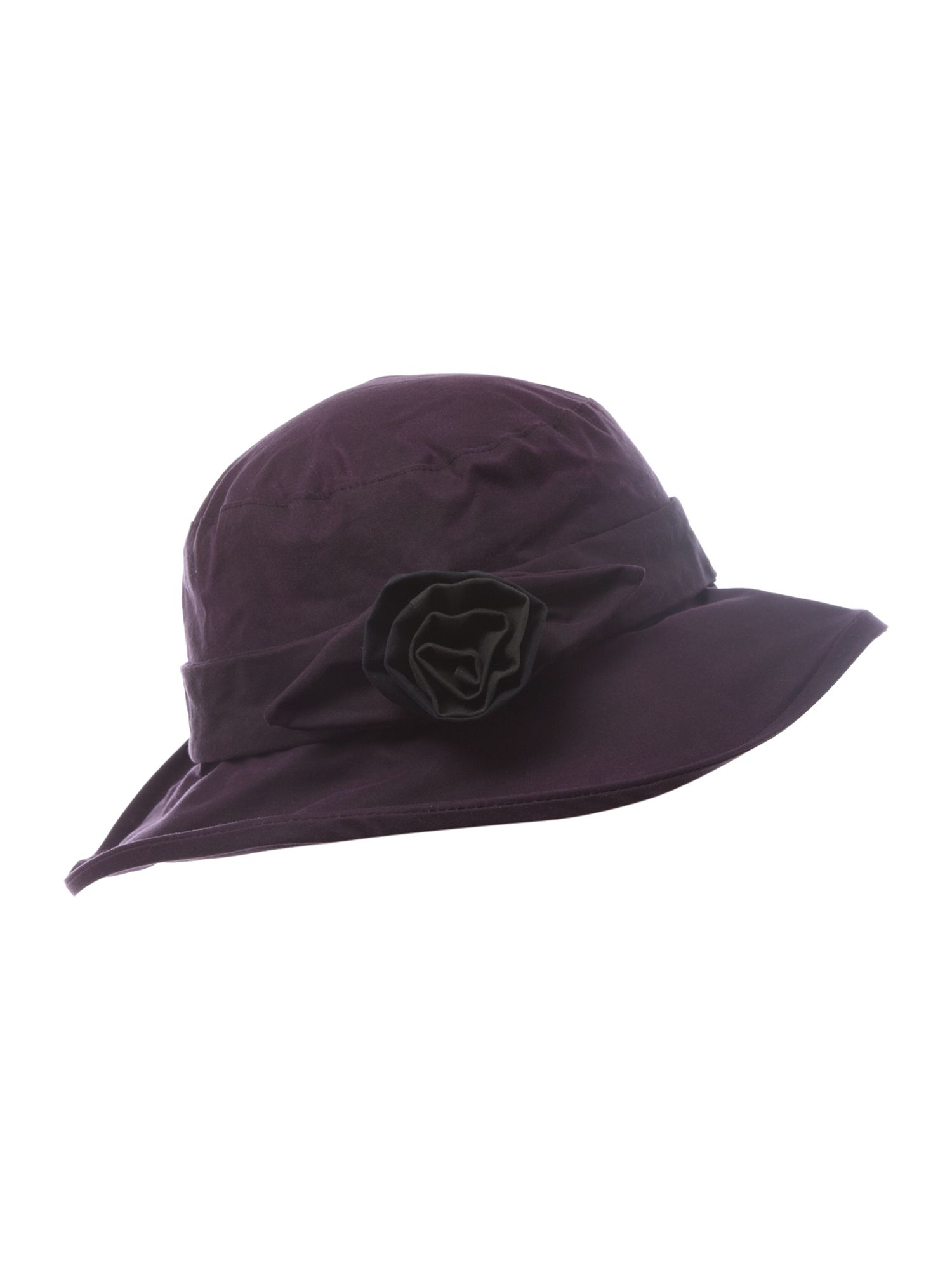 Ladies large wax with rose hat