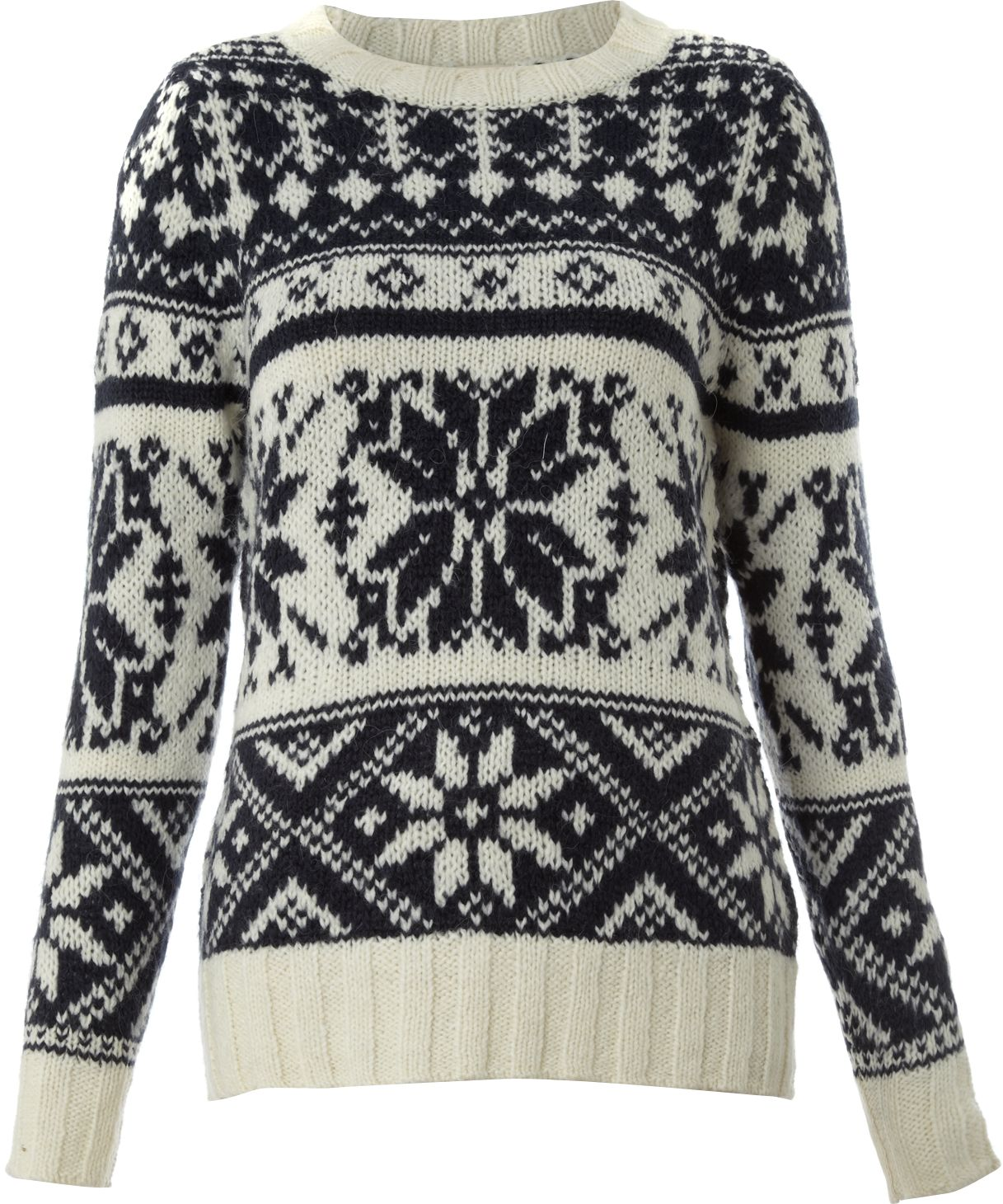 Ladies knitted snowflake jumper