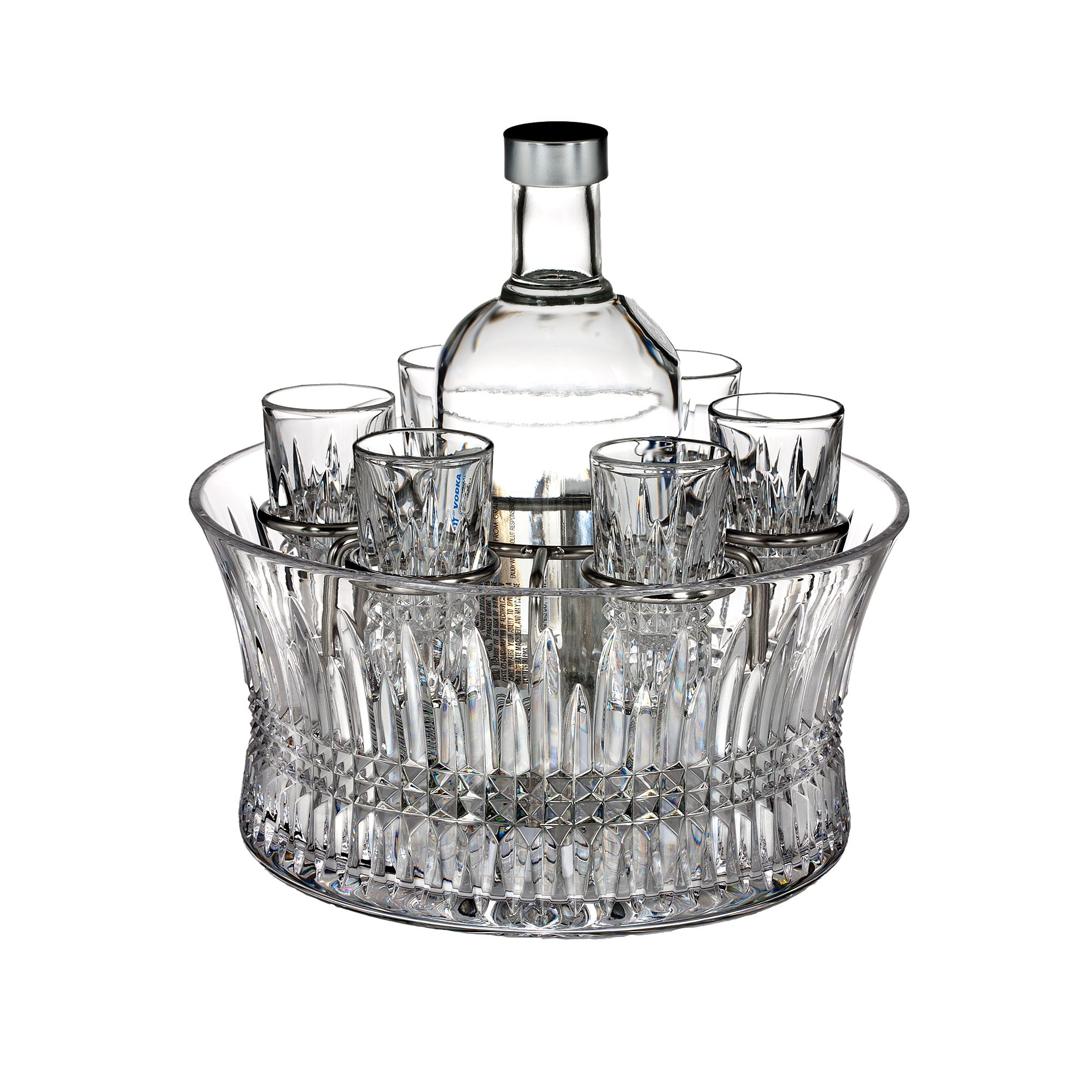 Diamond vodka set in chill bowl