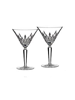 Classic lismore cocktail glass set of 2