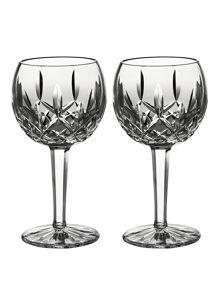 Classic lismore balloon wine, set of 2