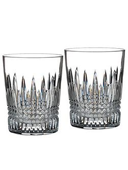 Waterford Lismore diamond tumbler glasses, set of 2