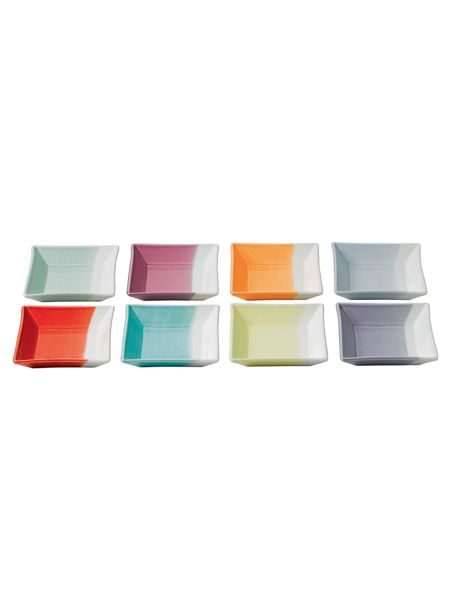 Royal Doulton 1815 12cm square tray, set of 8
