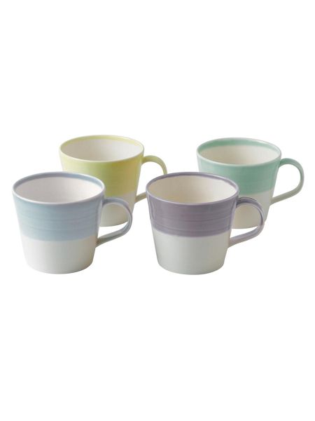 Royal Doulton 1815 mugs light colours, set of 4