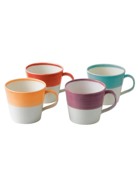 Royal Doulton 1815 mugs bright colours, set of 4