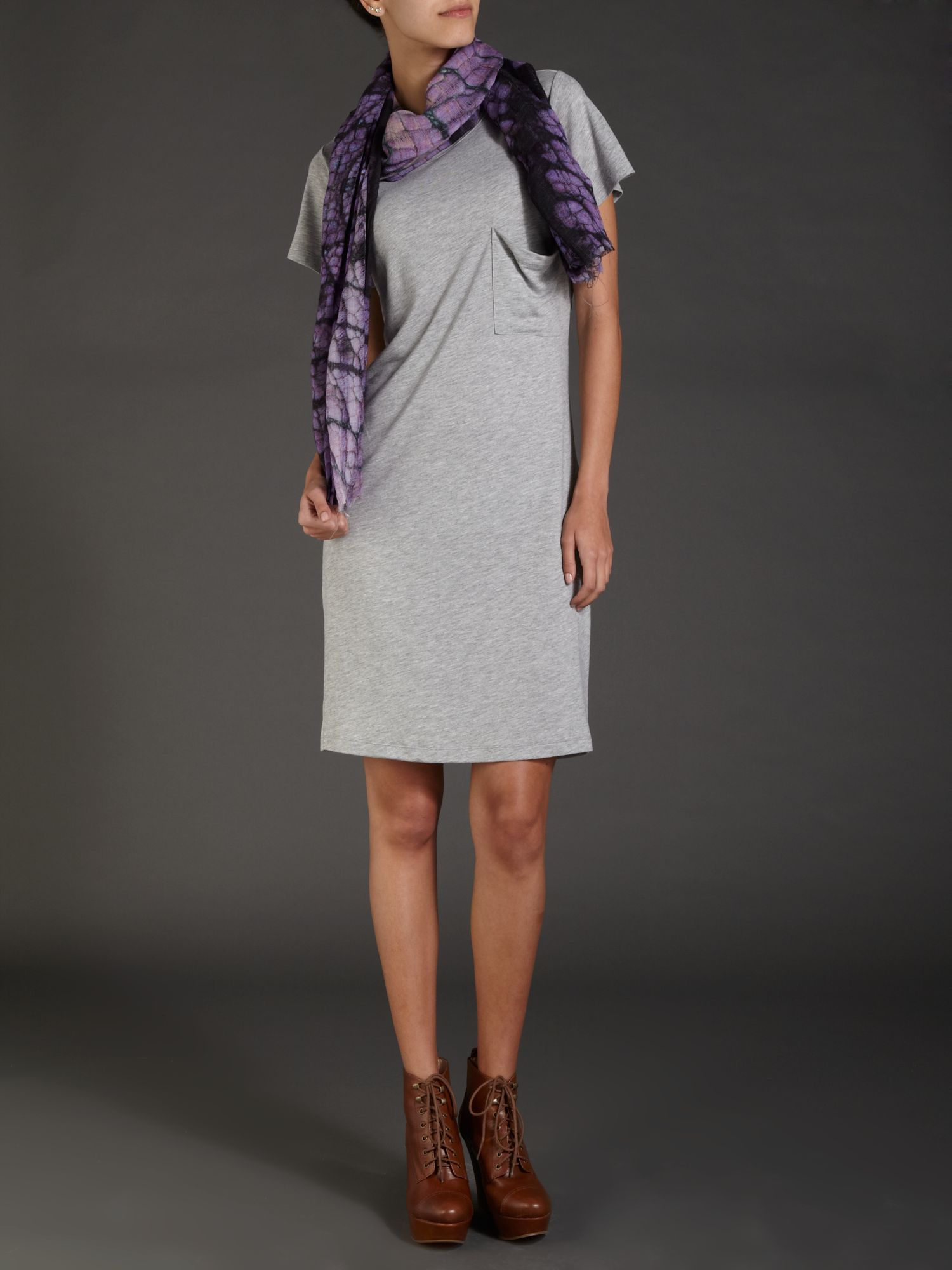 Cowl back jersey dress