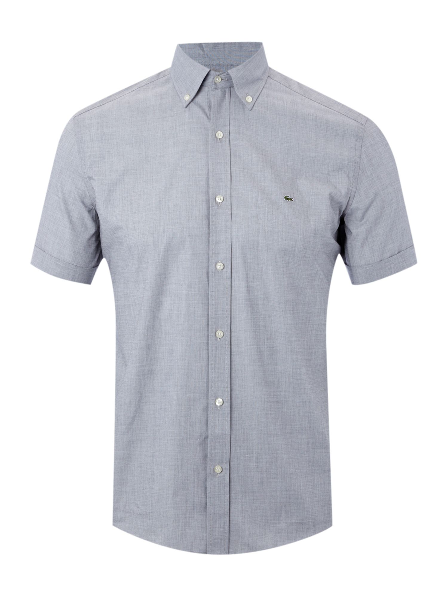 Short sleeved slim fitted shirt