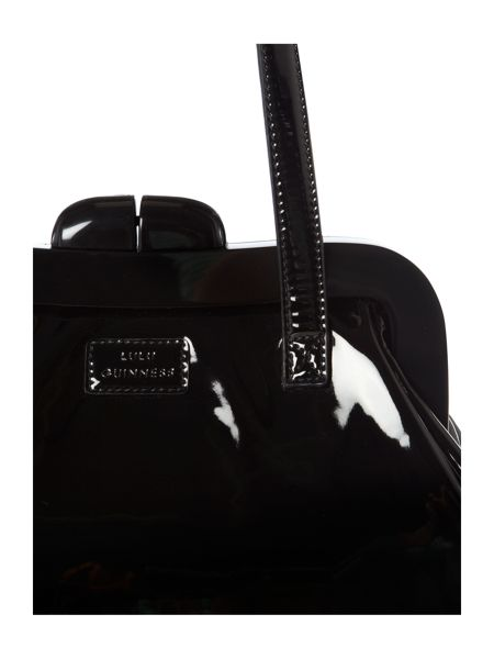 Lulu Guinness Black medium pollyanna frame tote bag