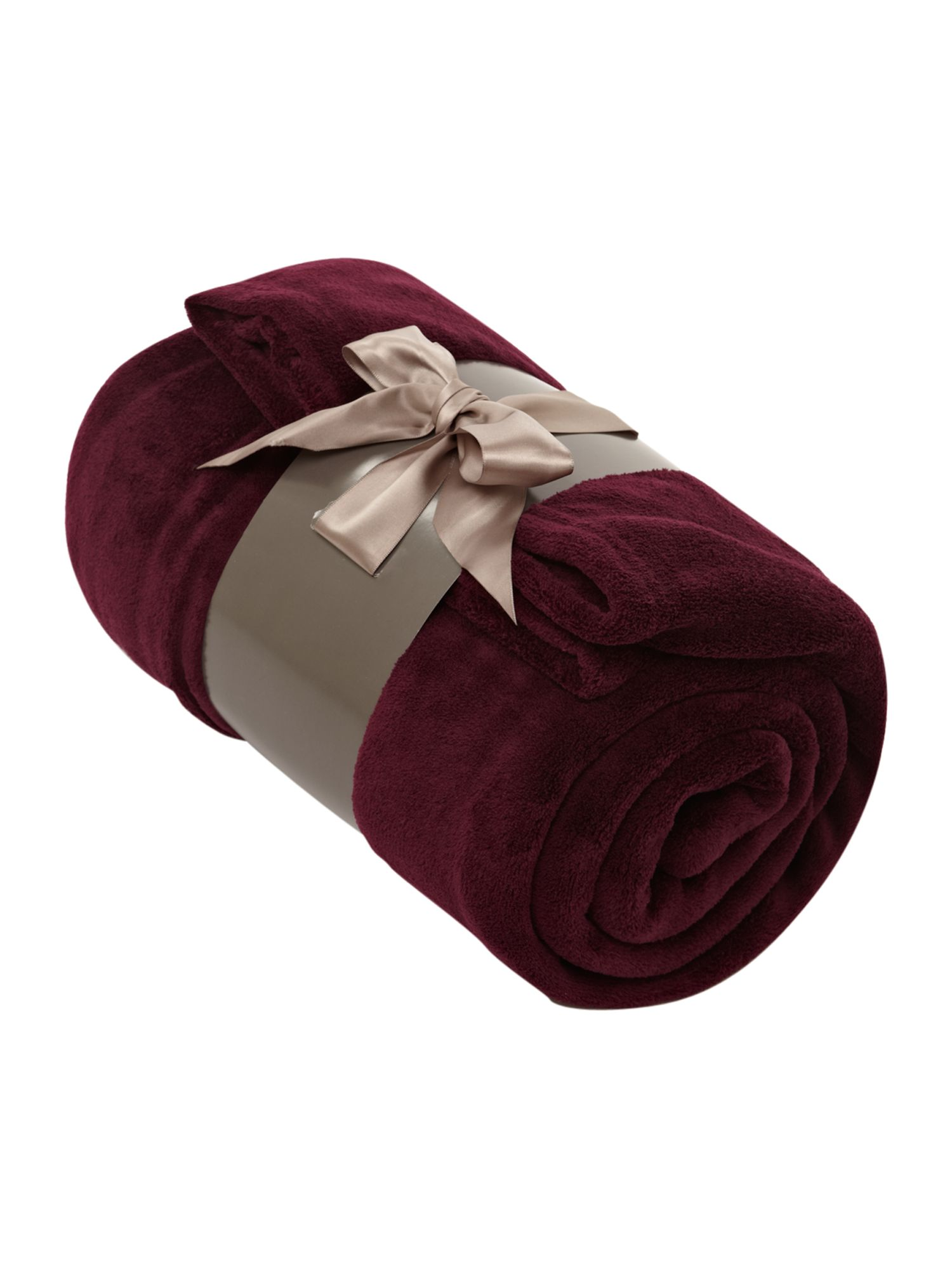 Fleece throw plum