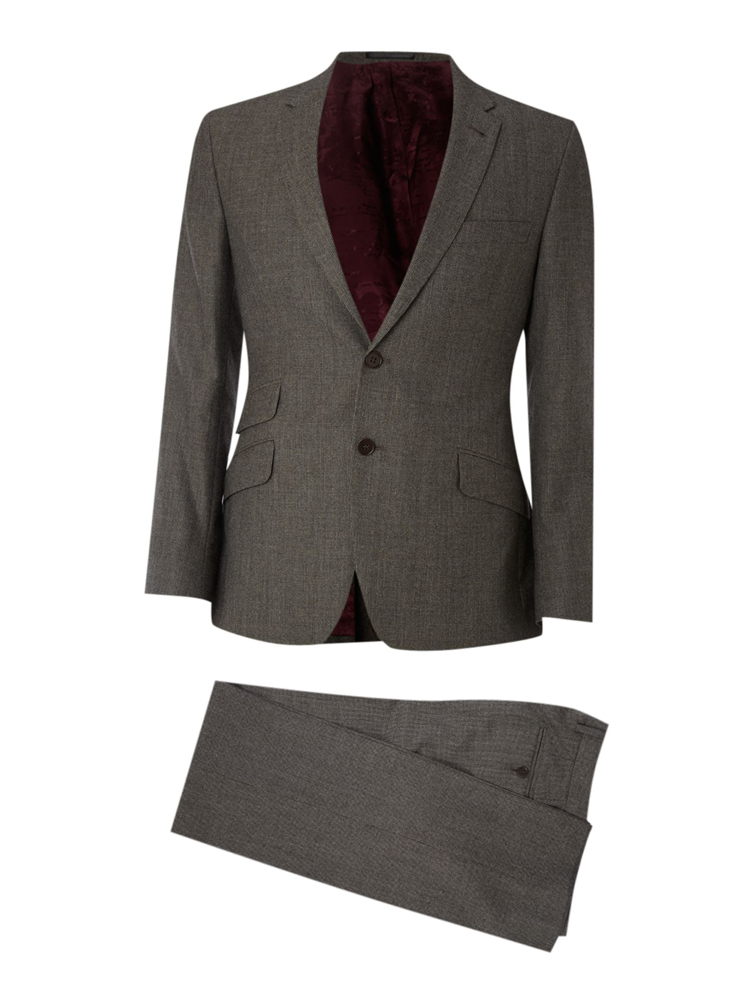 Single breasted milled puppytooth suit