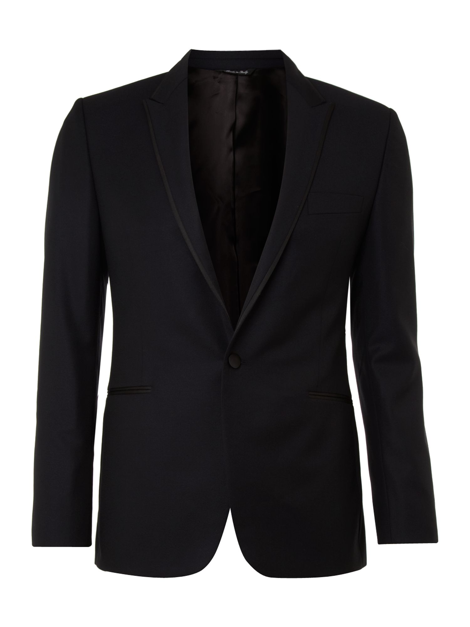 Single breasted edged dinner suit