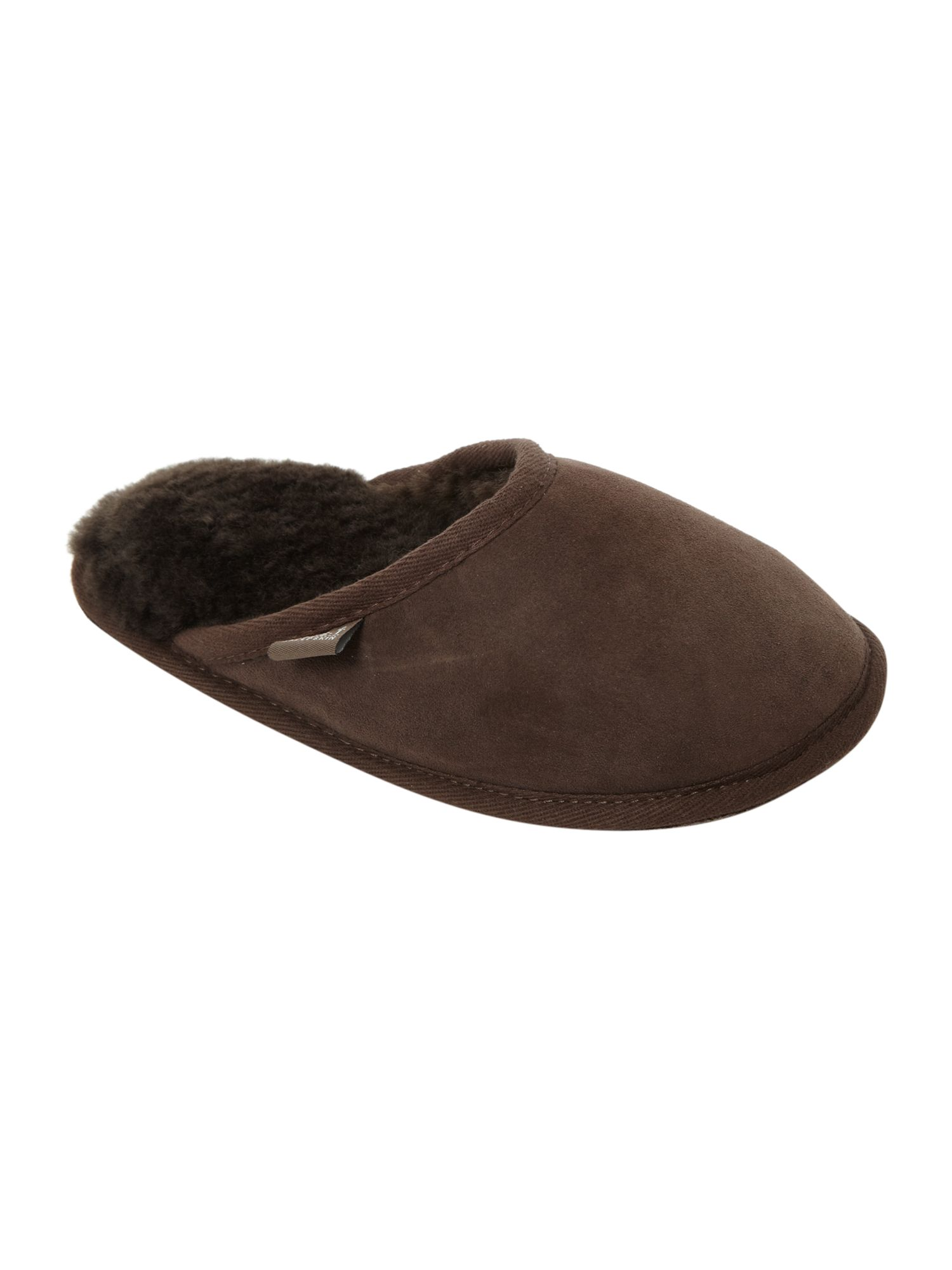 Shaftsbury sheepskin mule slippers