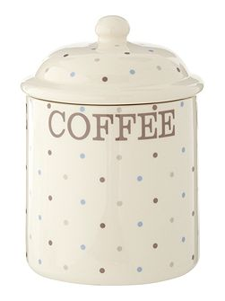 Homespun Dotty Coffee Jar
