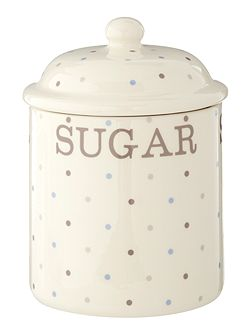 Homespun Dotty Sugar Jar