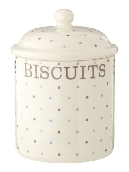 Linea Homespun Dotty Biscuit Jar