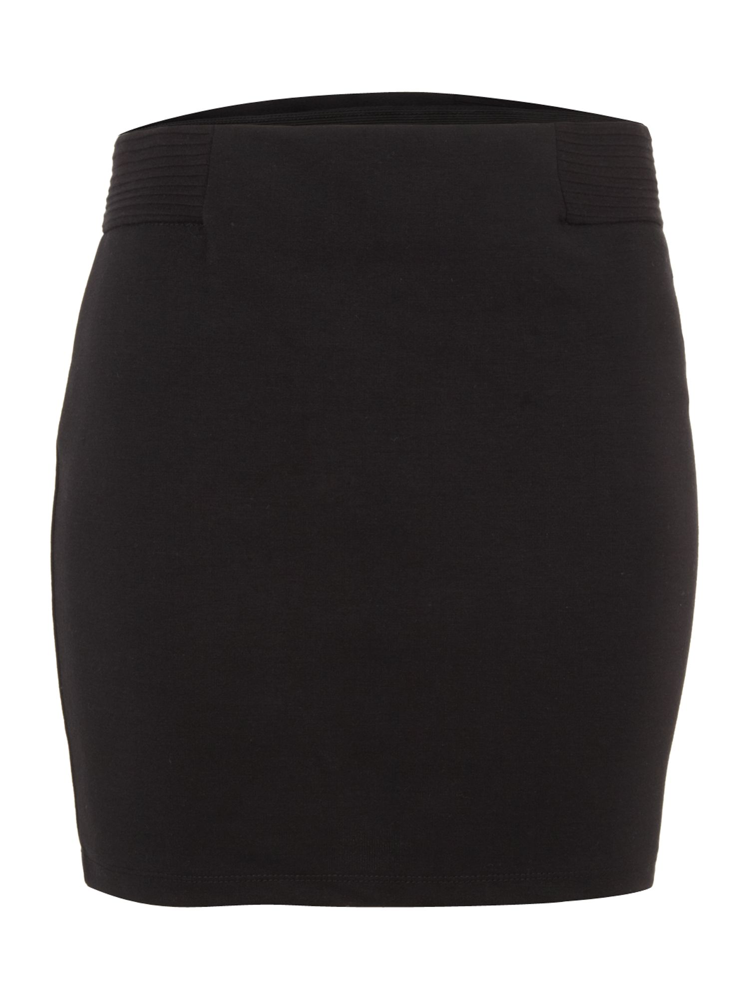 Black panel mini skirt