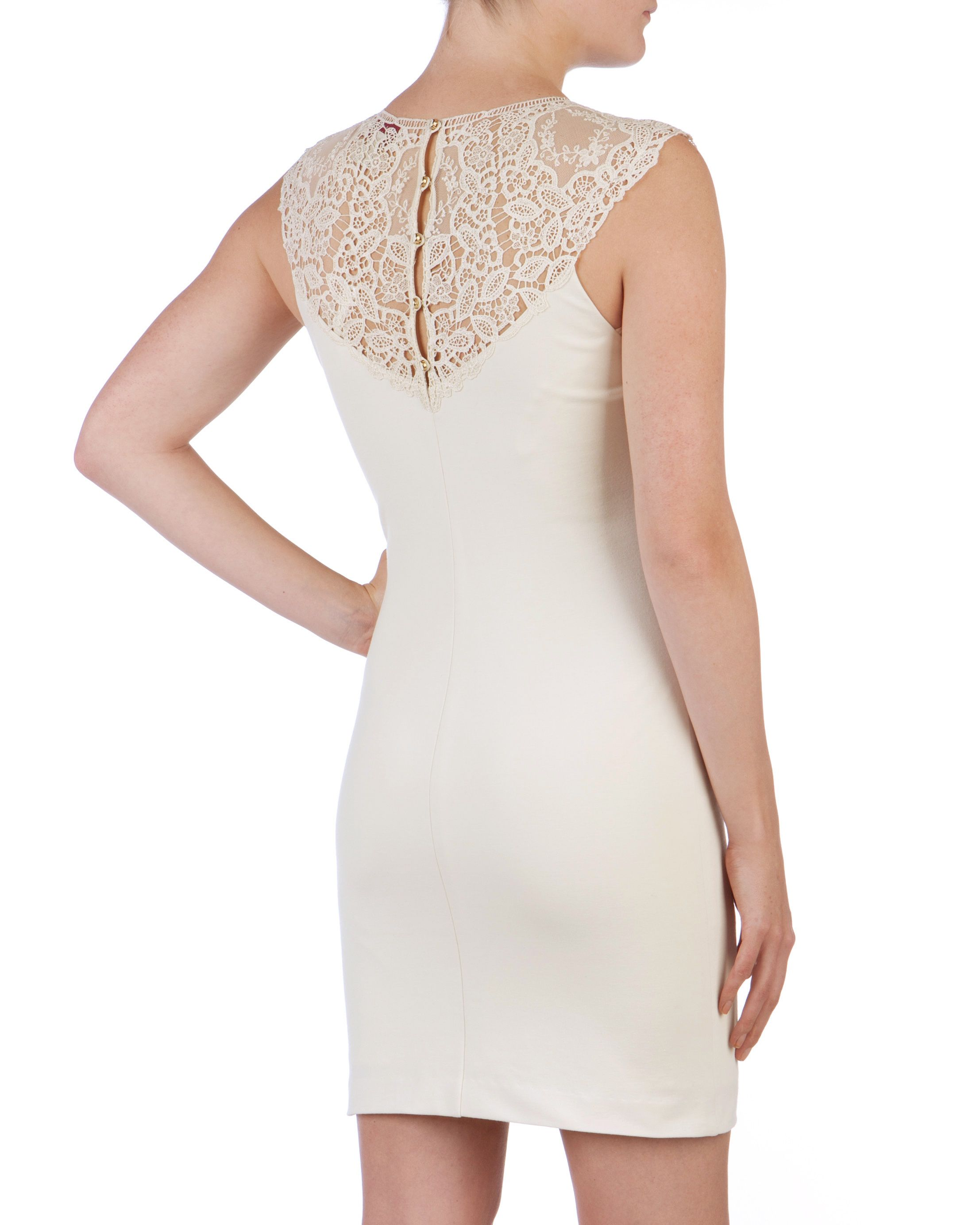 Violina lace trim dress