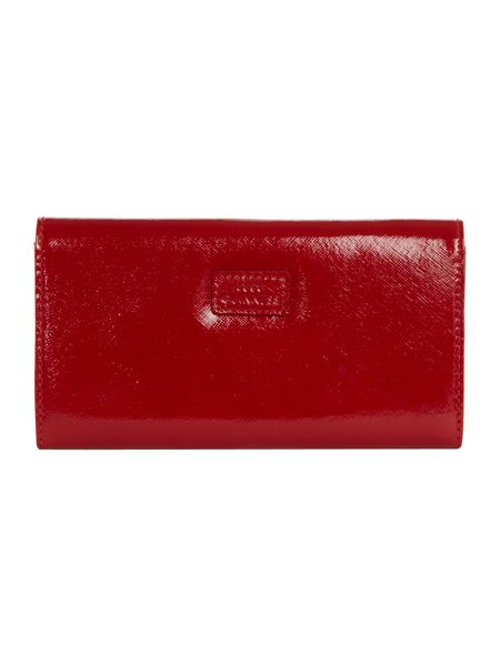 Lulu Guinness Red lips large flap over purse