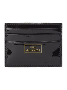 Black patent card holder