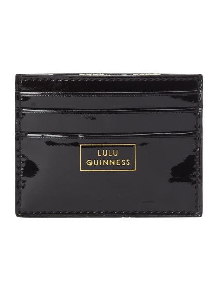Lulu Guinness Black patent card holder