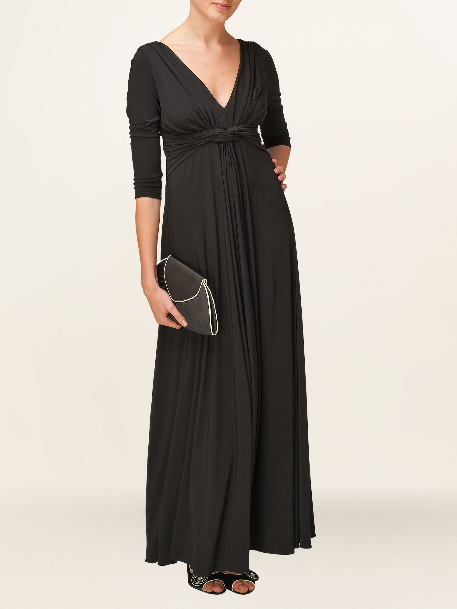 3/4 sleeve arabella maxi dress