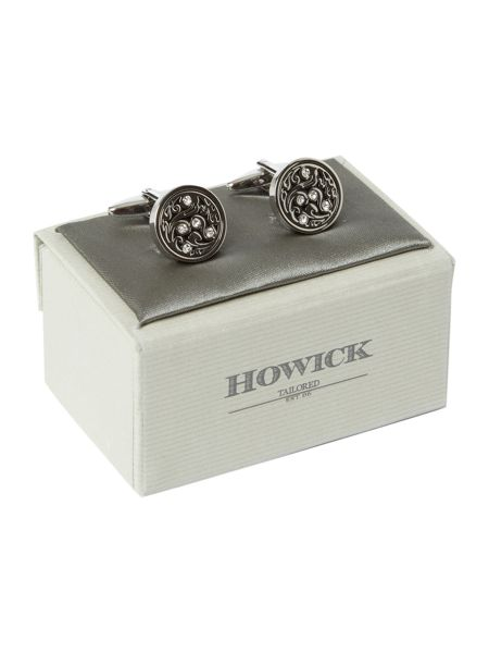 Howick Tailored Circle crystal cufflinks