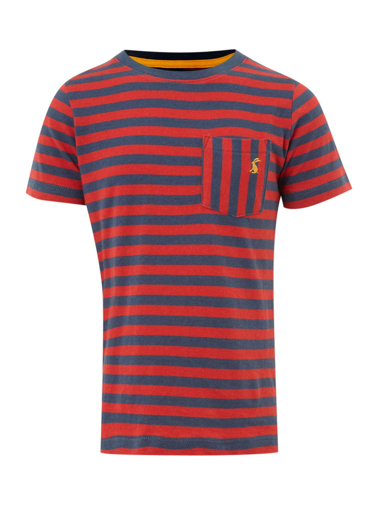 Little Joule Short-sleeved stripe t-shirt, Red product image