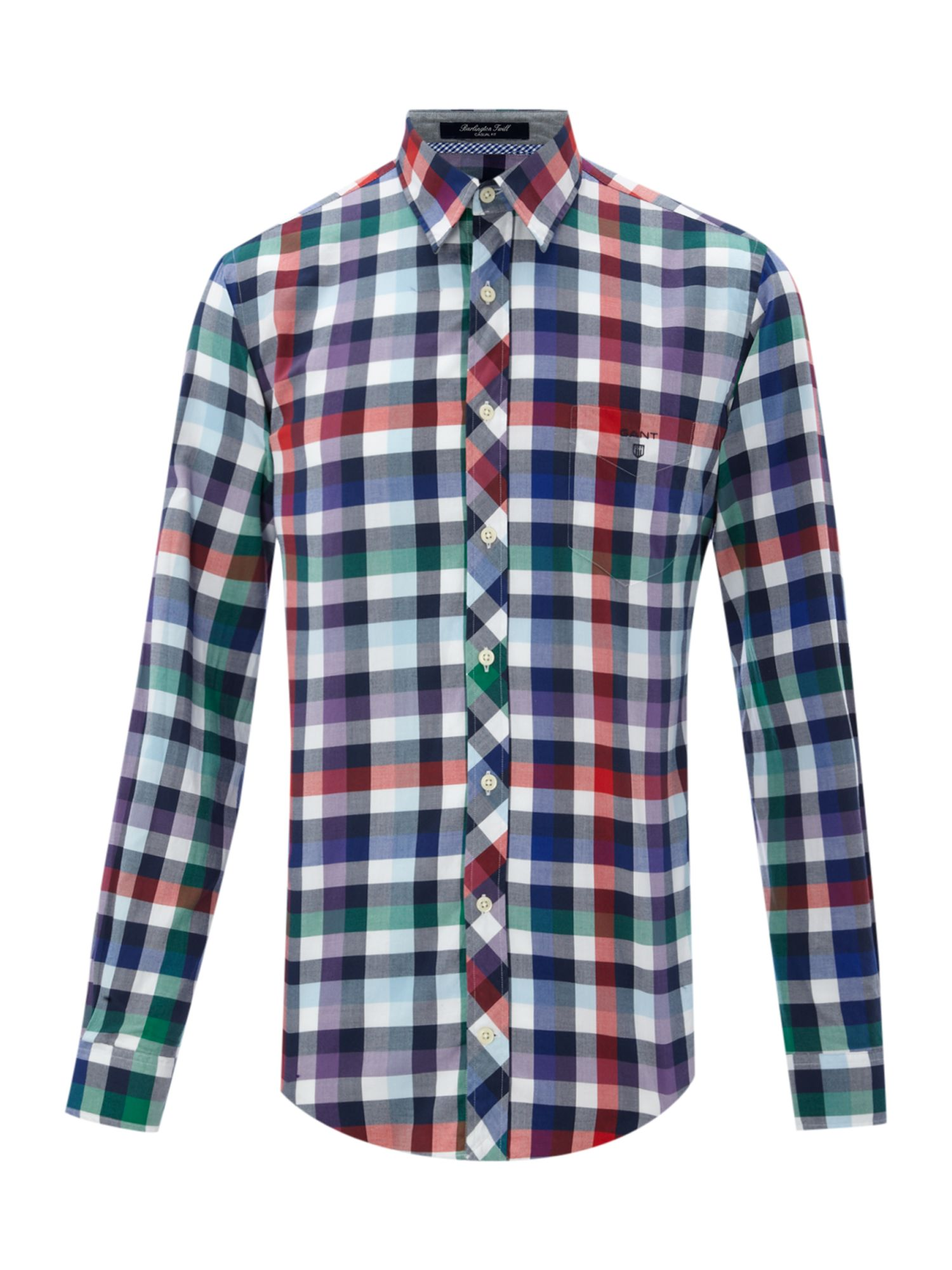 Long sleeve classic fit bold check shirt