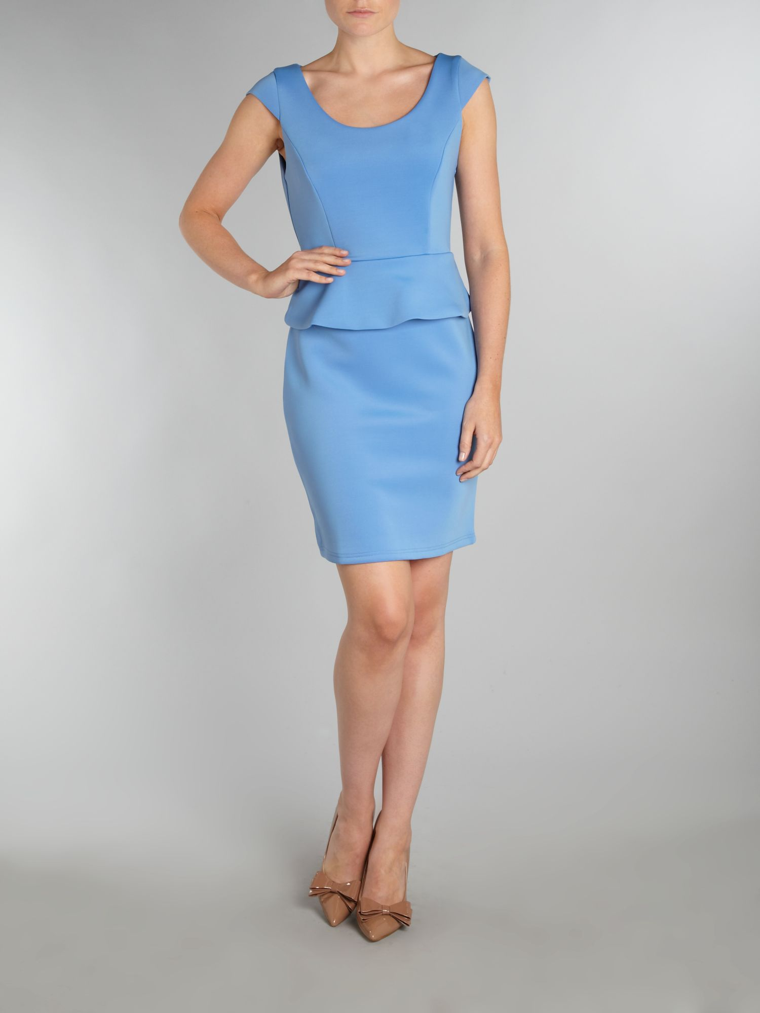 True decadence cap sleeve peplum dress
