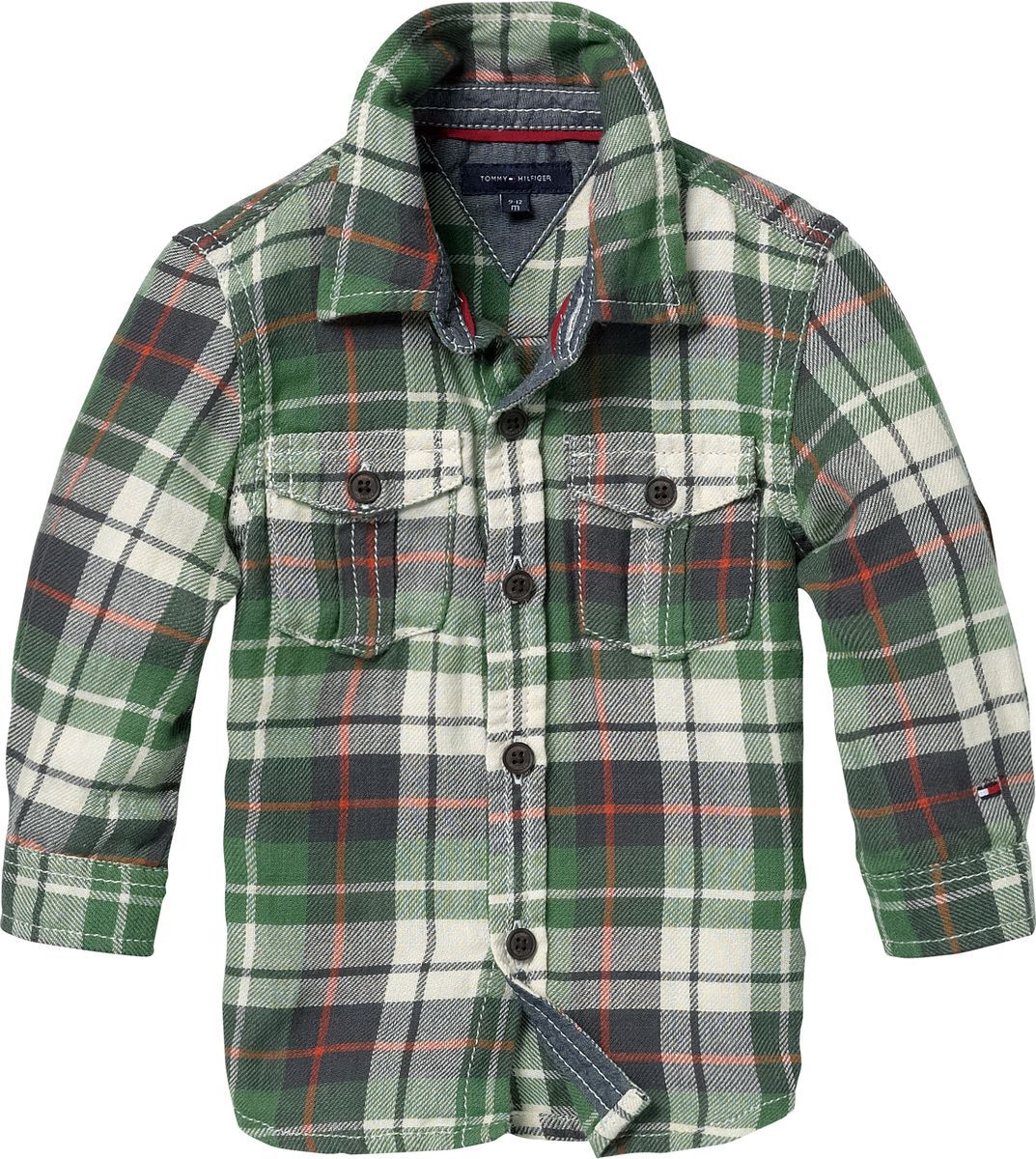 Toddler boy`s check shirt.