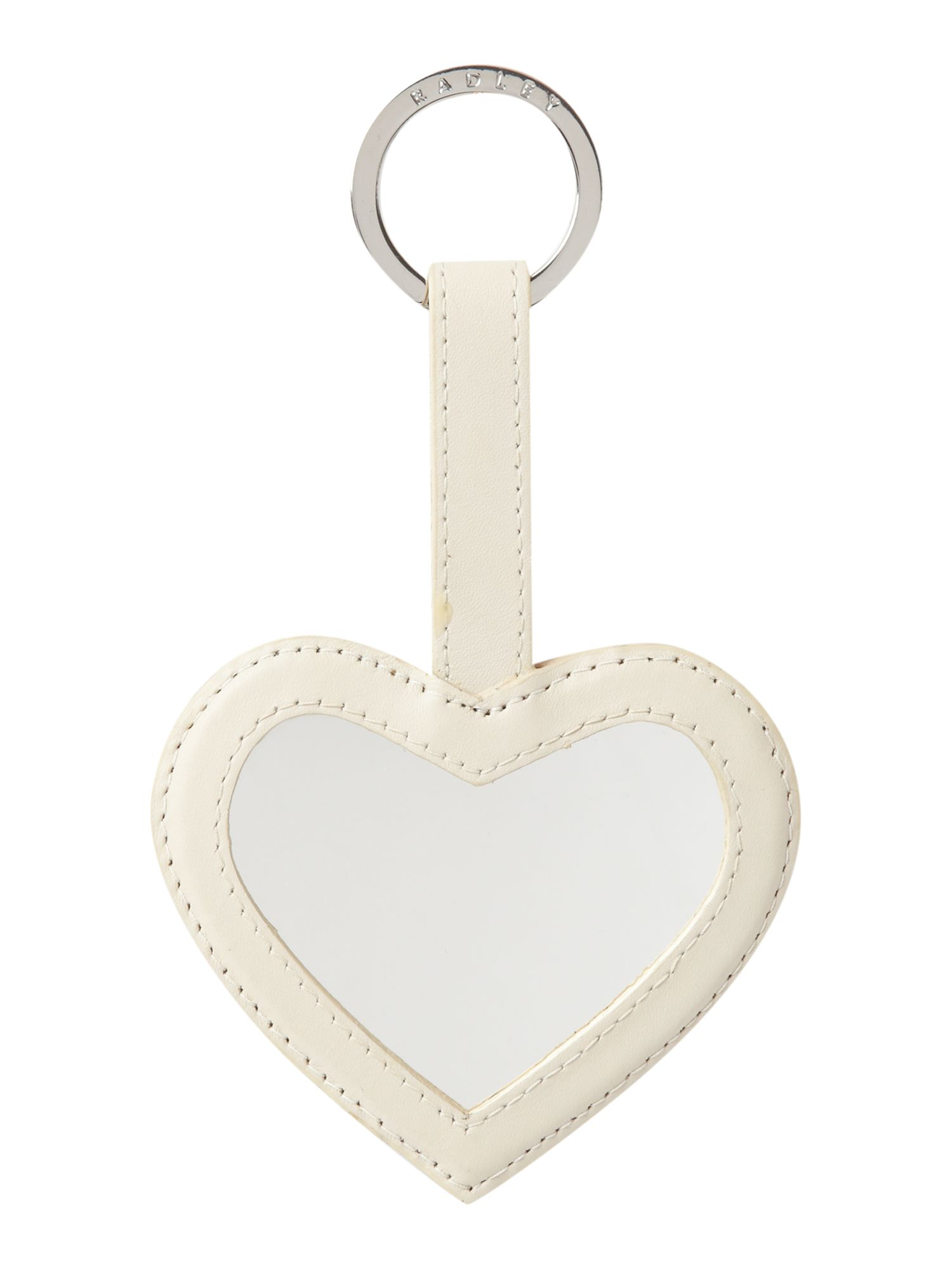 Dog print heart keyring