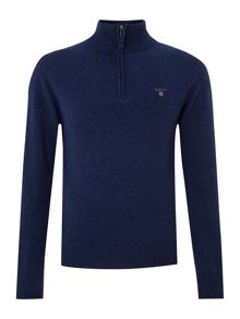 Half zip lambswool jumper