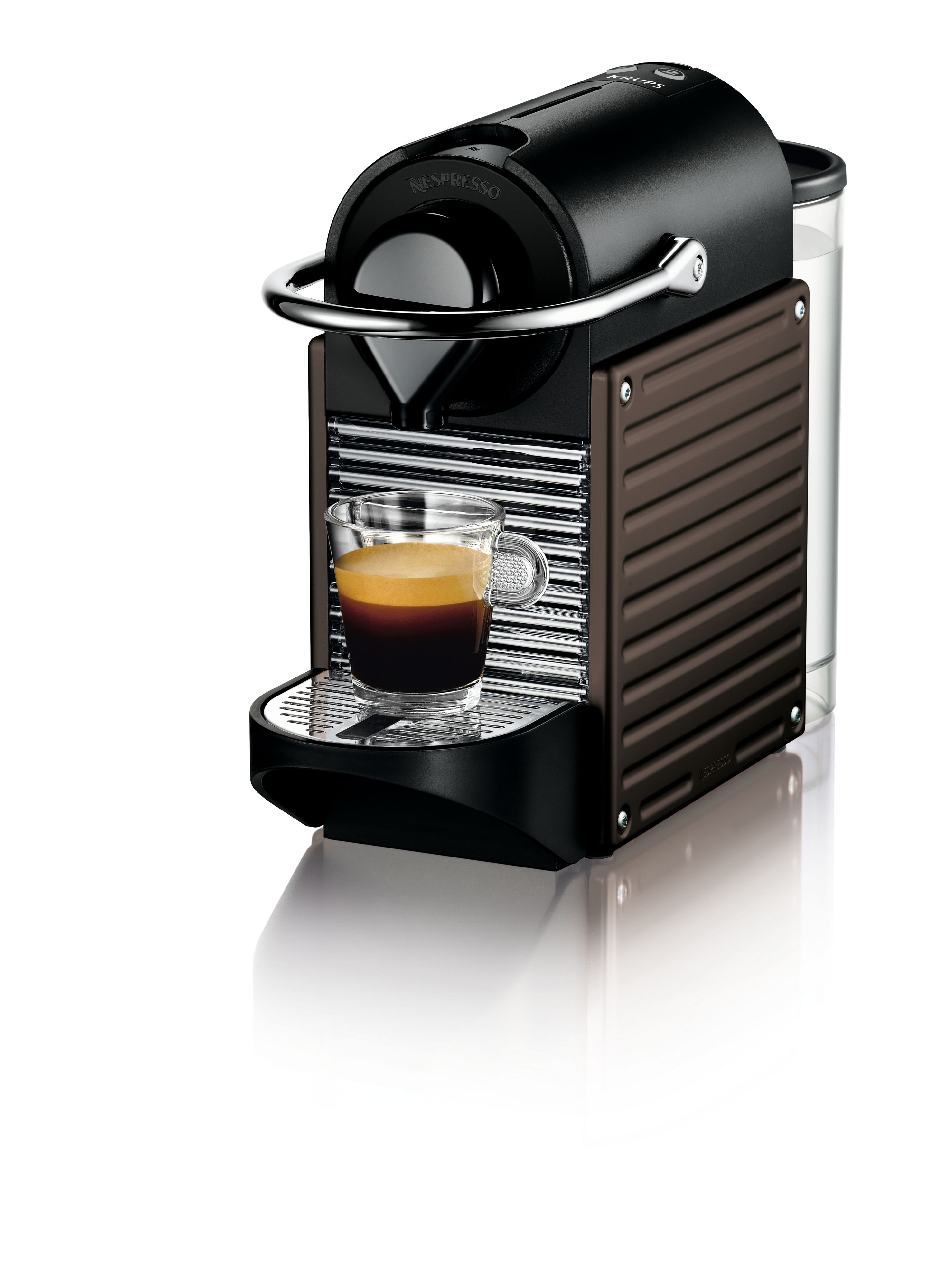 Nespresso Pixie Dark Brown Coffee Machine