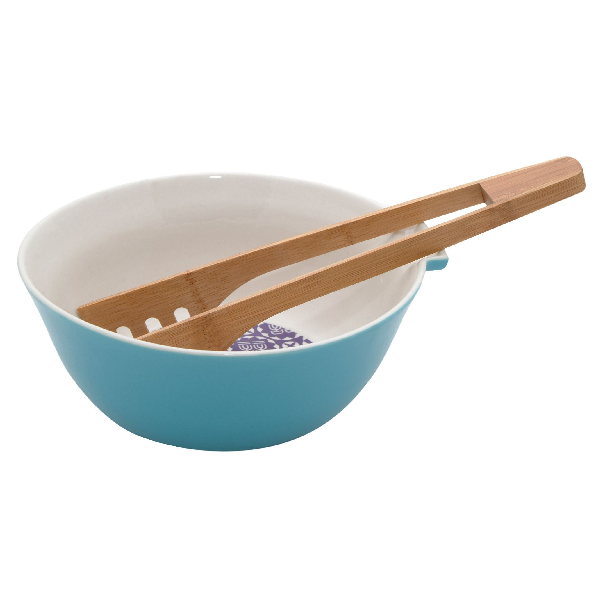 Serving Bowl & Bamboo Tongs
