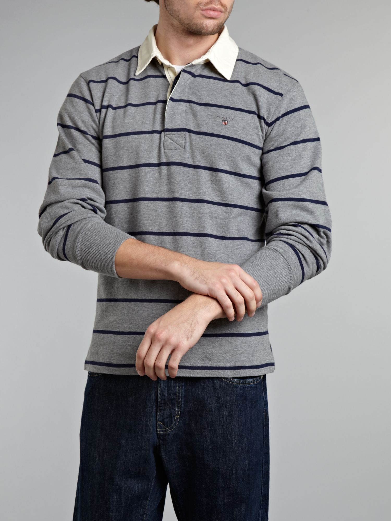 Regular fit breton stripe rugby shirt