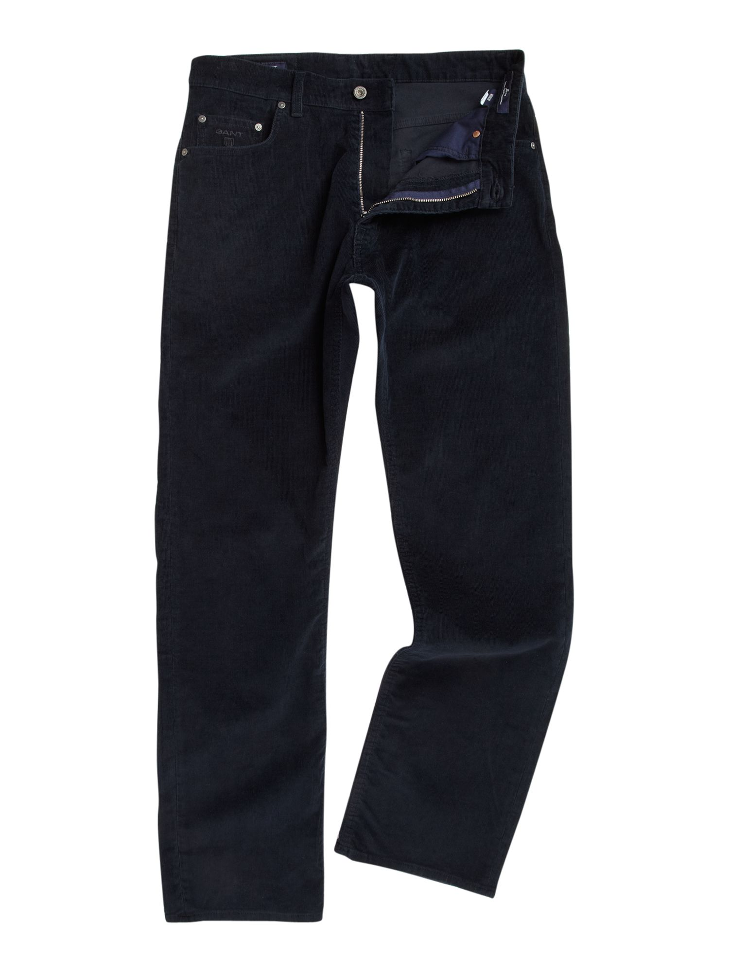 Regular fit stretch corduroy trousers