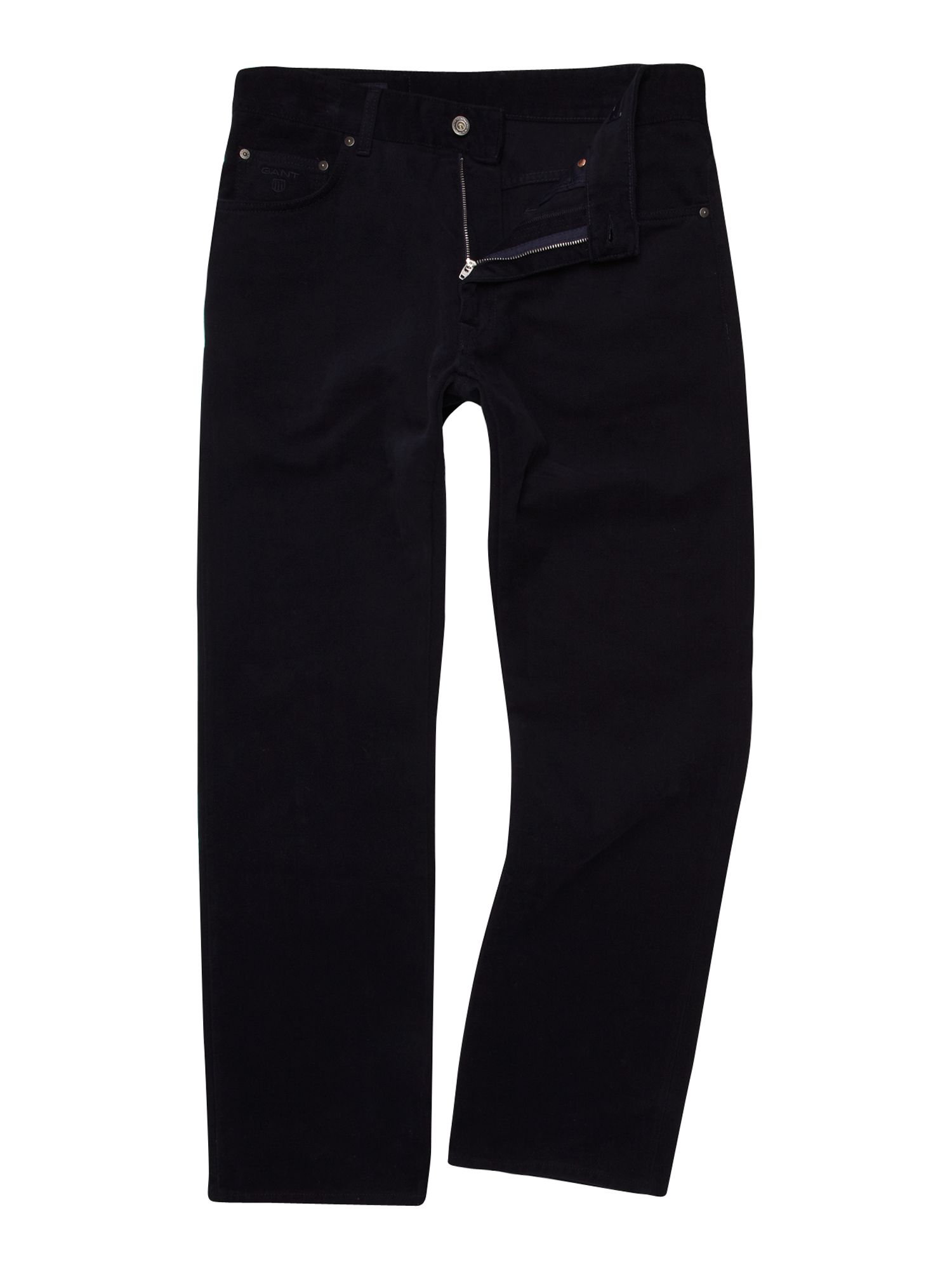 Regular fit soft twill trousers