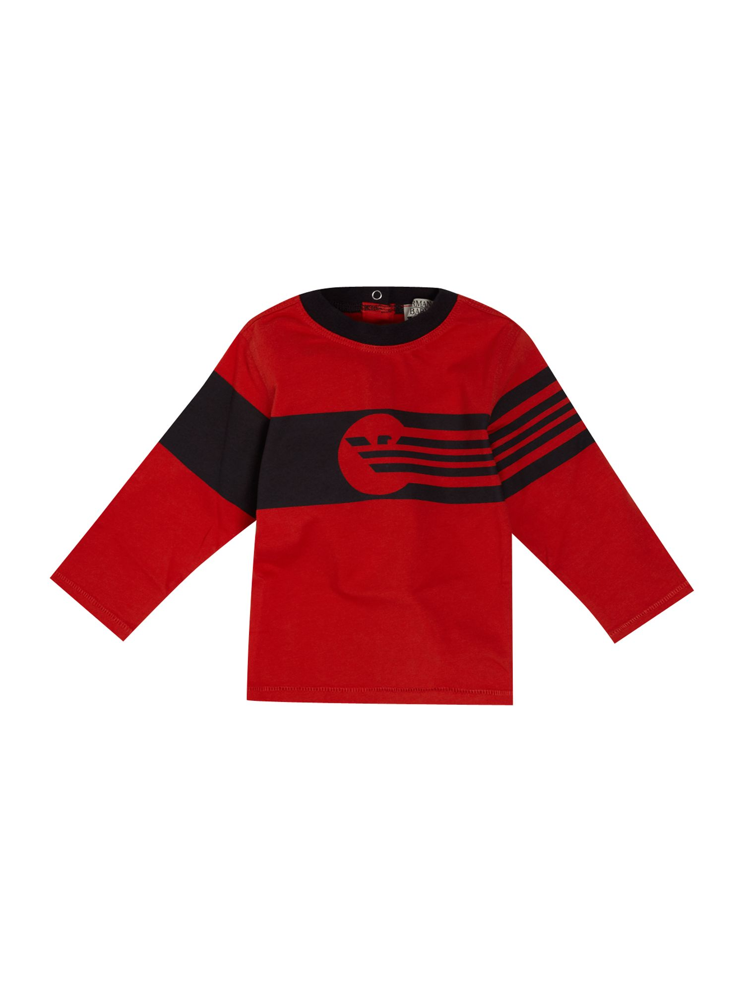 Armani Junior Long-sleeved logo t-shirt, Red product image