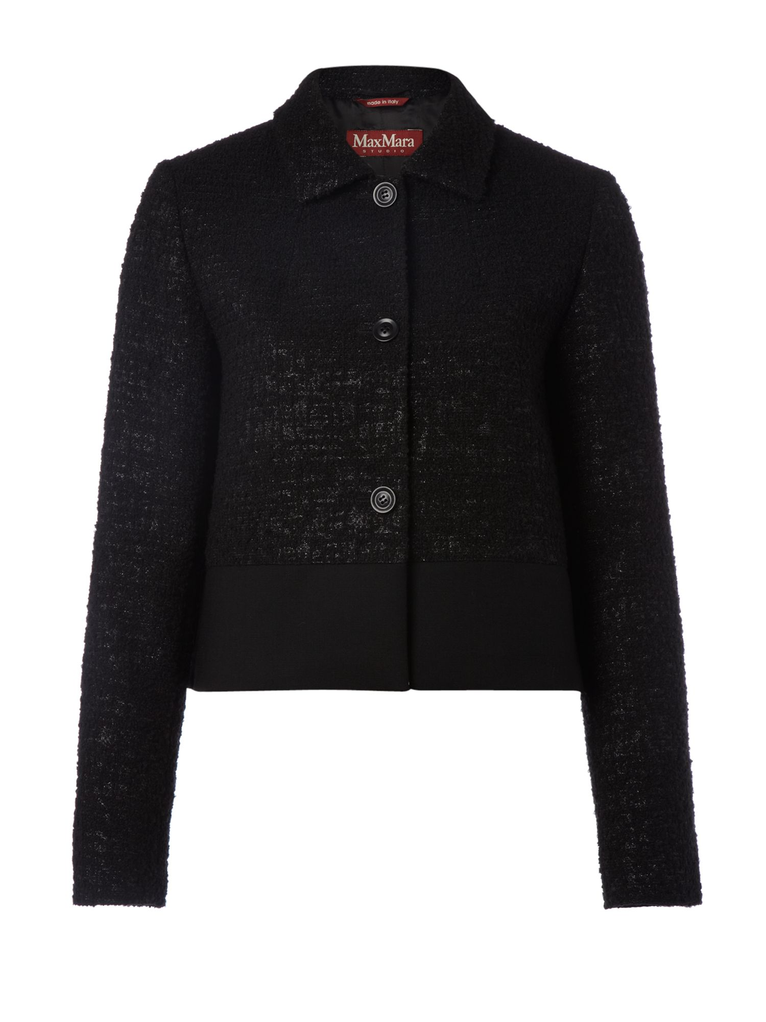 Women's MaxMara Studio Tempio boucle jacket, Black