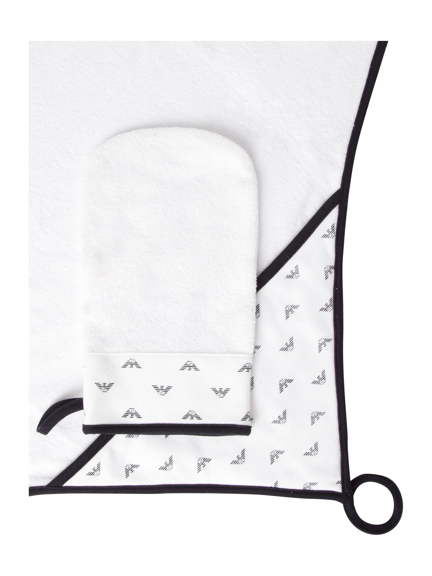 Hooded logo towel