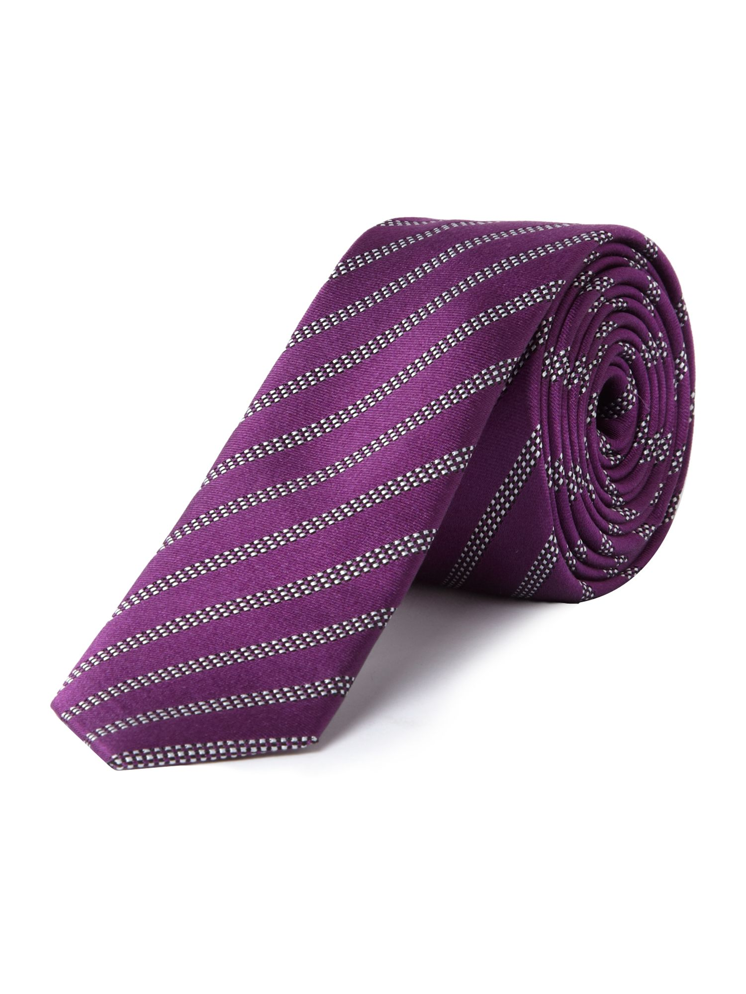 Broken geometric stripe tie