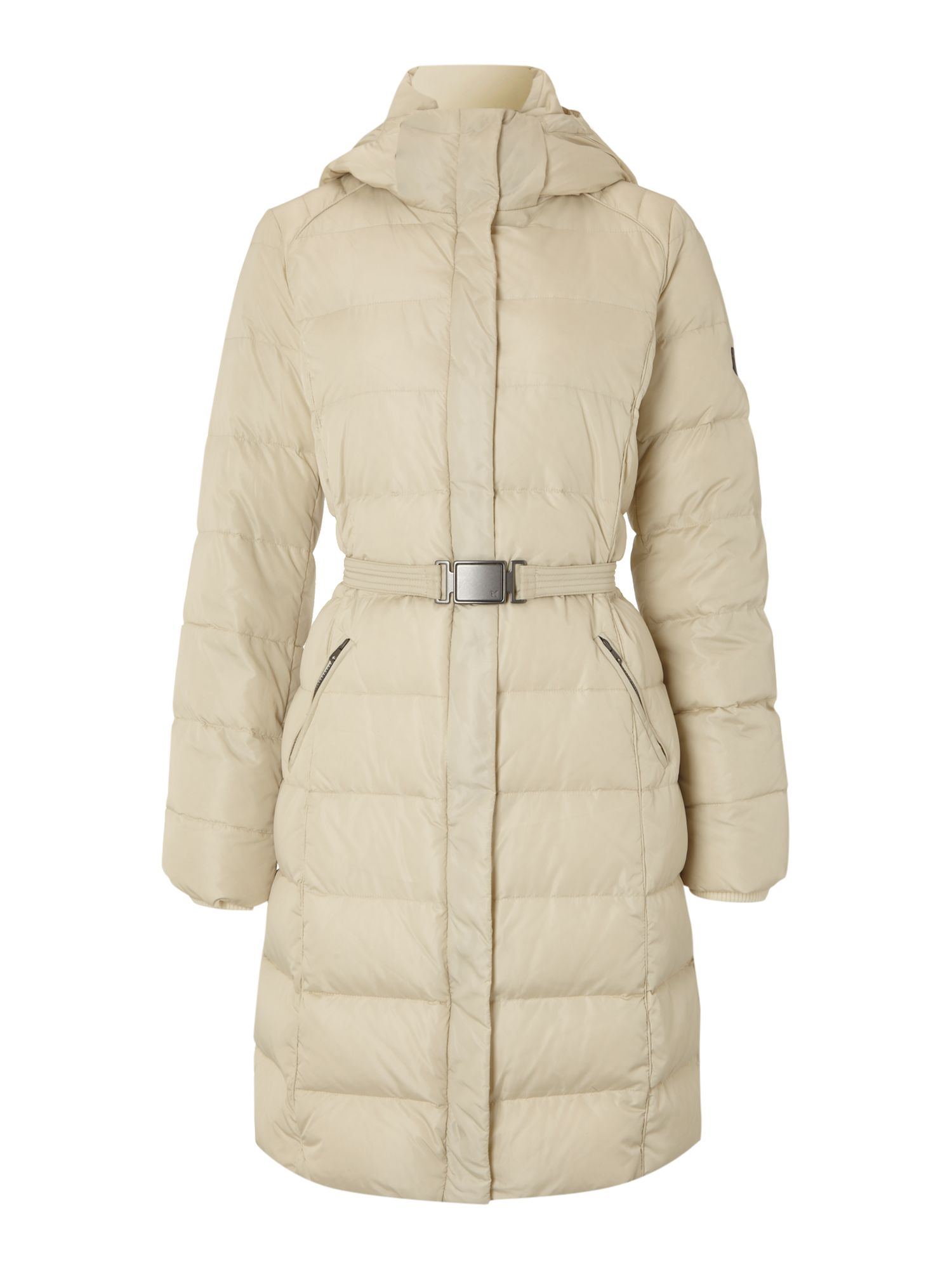 Women's MaxMara Weekend Agiato belted padded coat, Ice